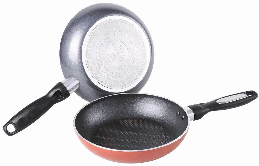 Stick Fry Pan Red