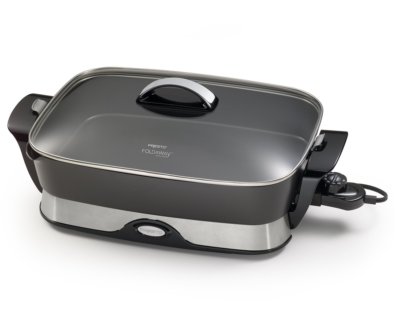 Kitchen & Dining Electric Foldaway Skillet Black