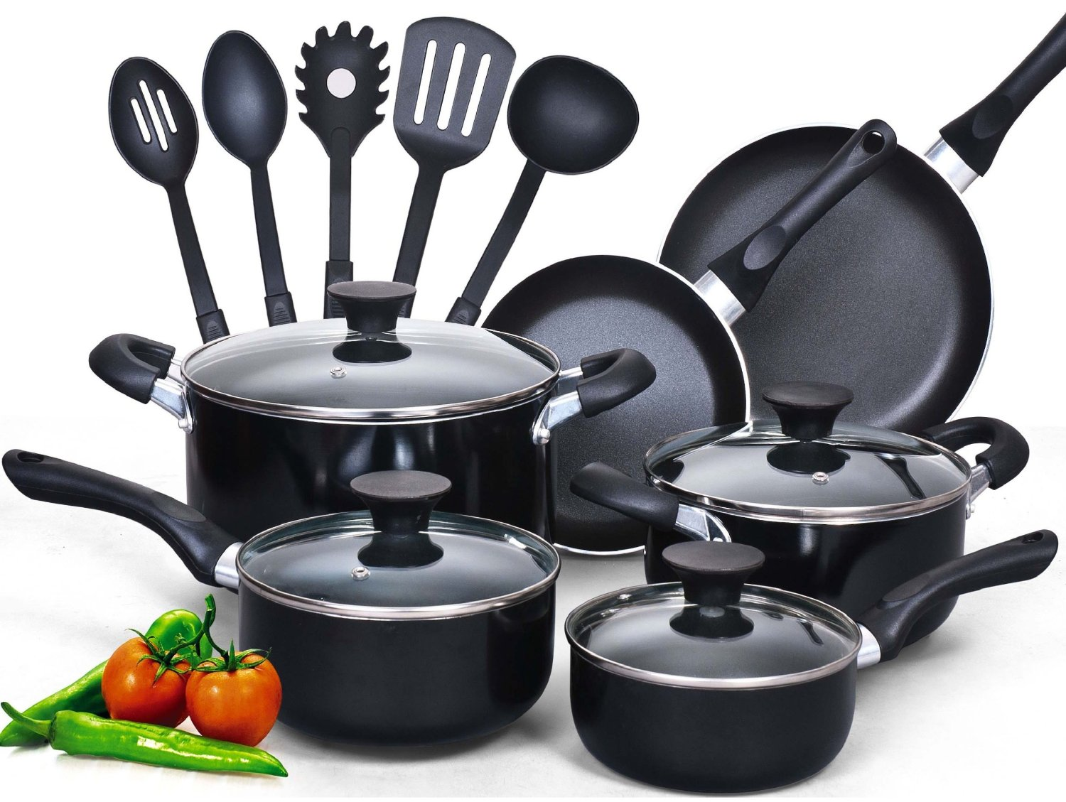Cook N Home Soft handle Cookware Set